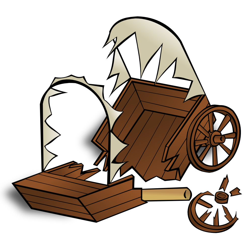 Wagon clipart pioneer. Shipwreck panda free images