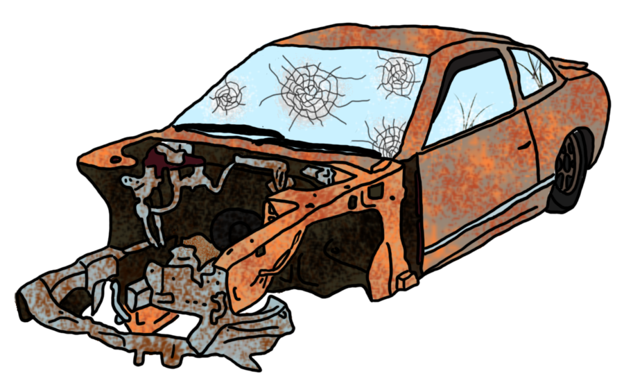 Car Wreck Drawing at GetDrawings