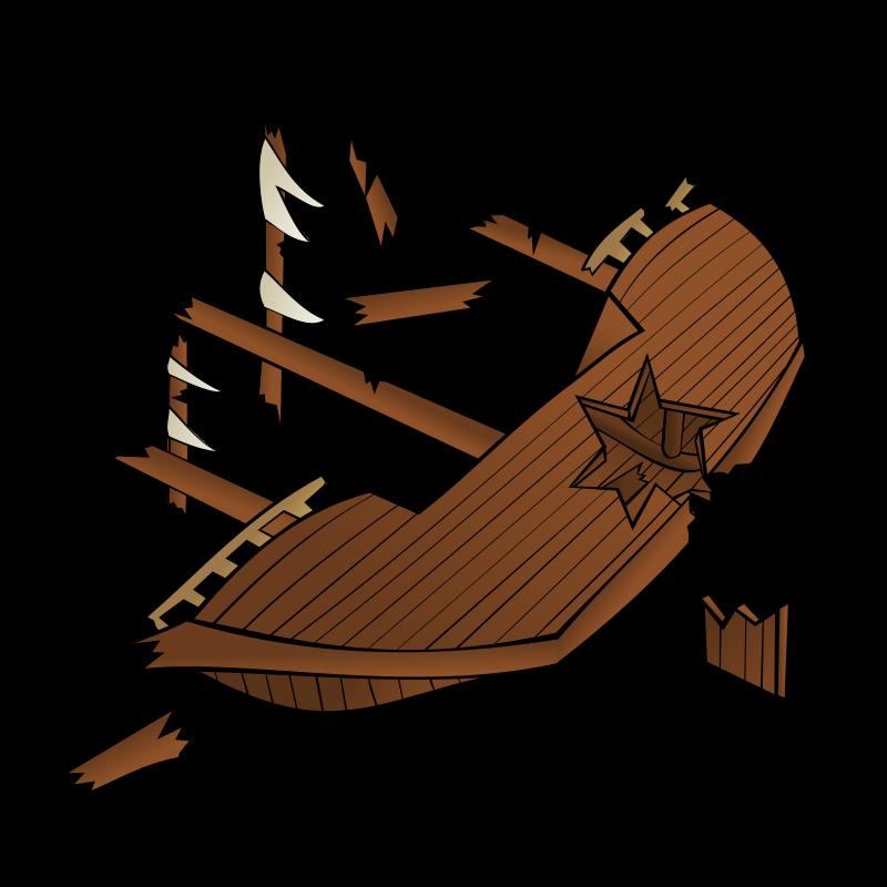 Rpg map symbols shipwreck. Geography clipart cartoon