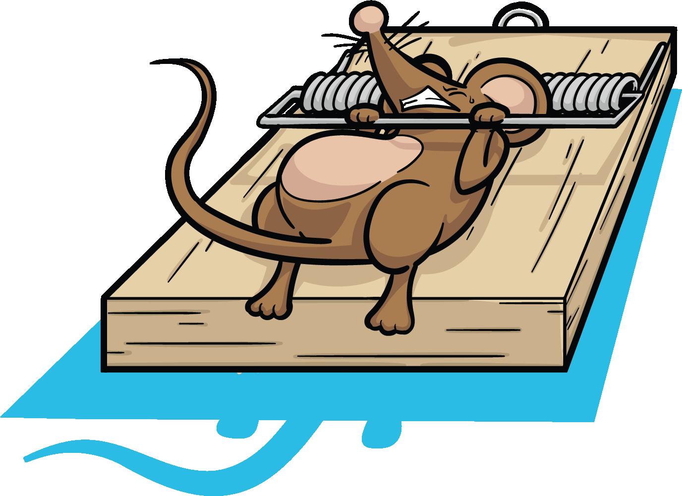 Mousetrap clip trap transprent. Clipart rat line art