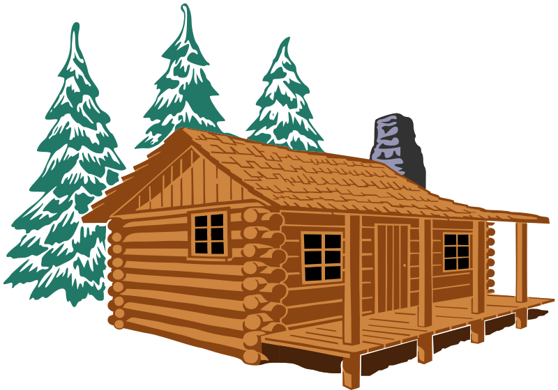 Fever adult winter reading. Cottage clipart mountain cabin
