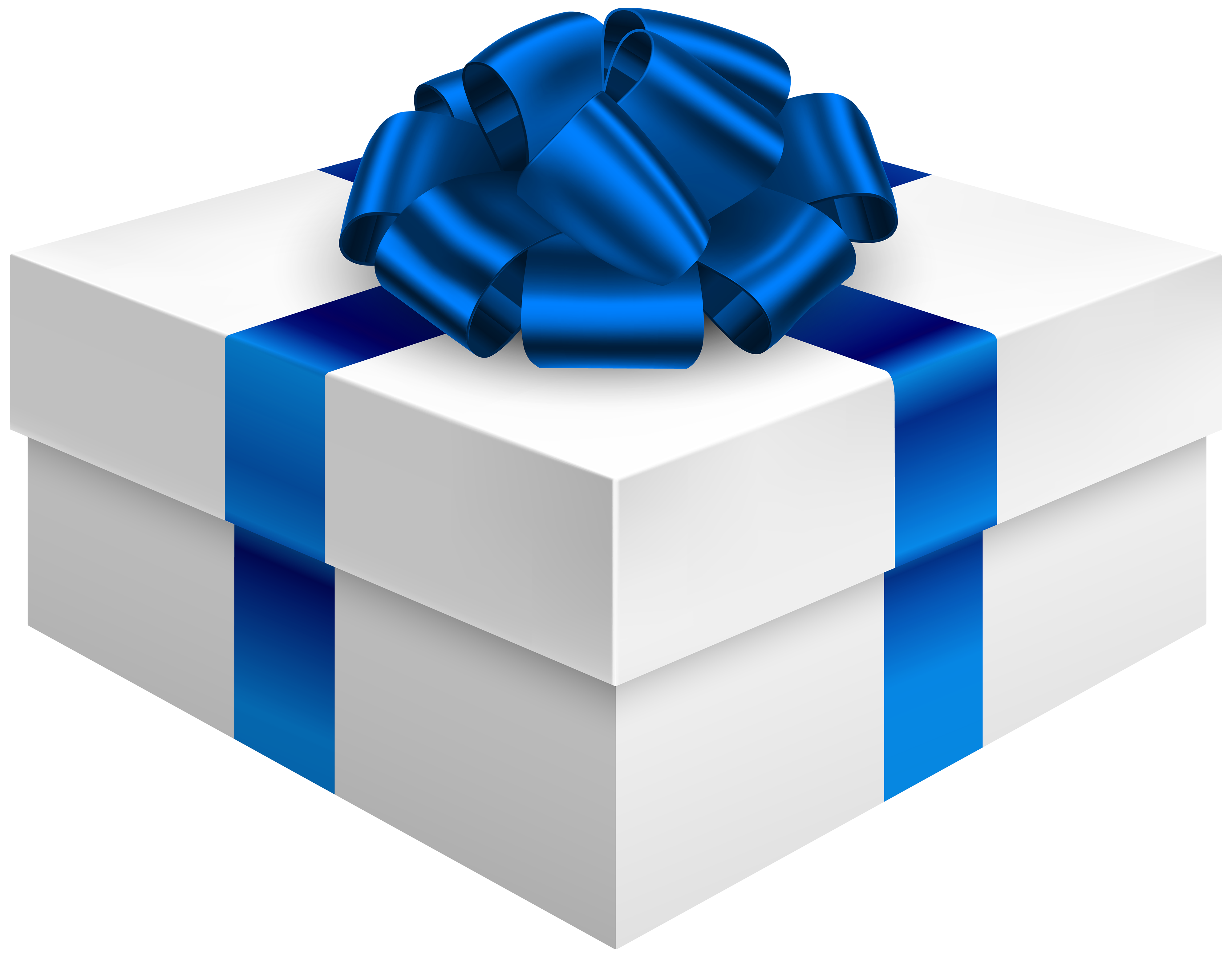 Box with dark blue. Gift clipart stacked present