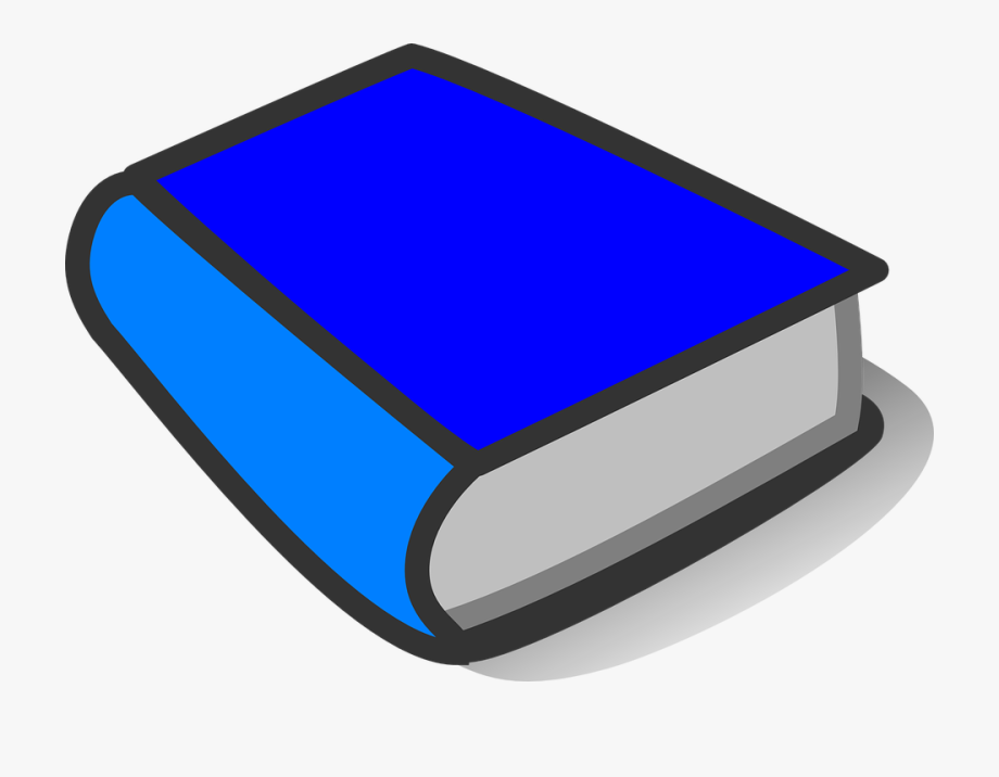 Blue bright closed shut. Dictionary clipart thick book