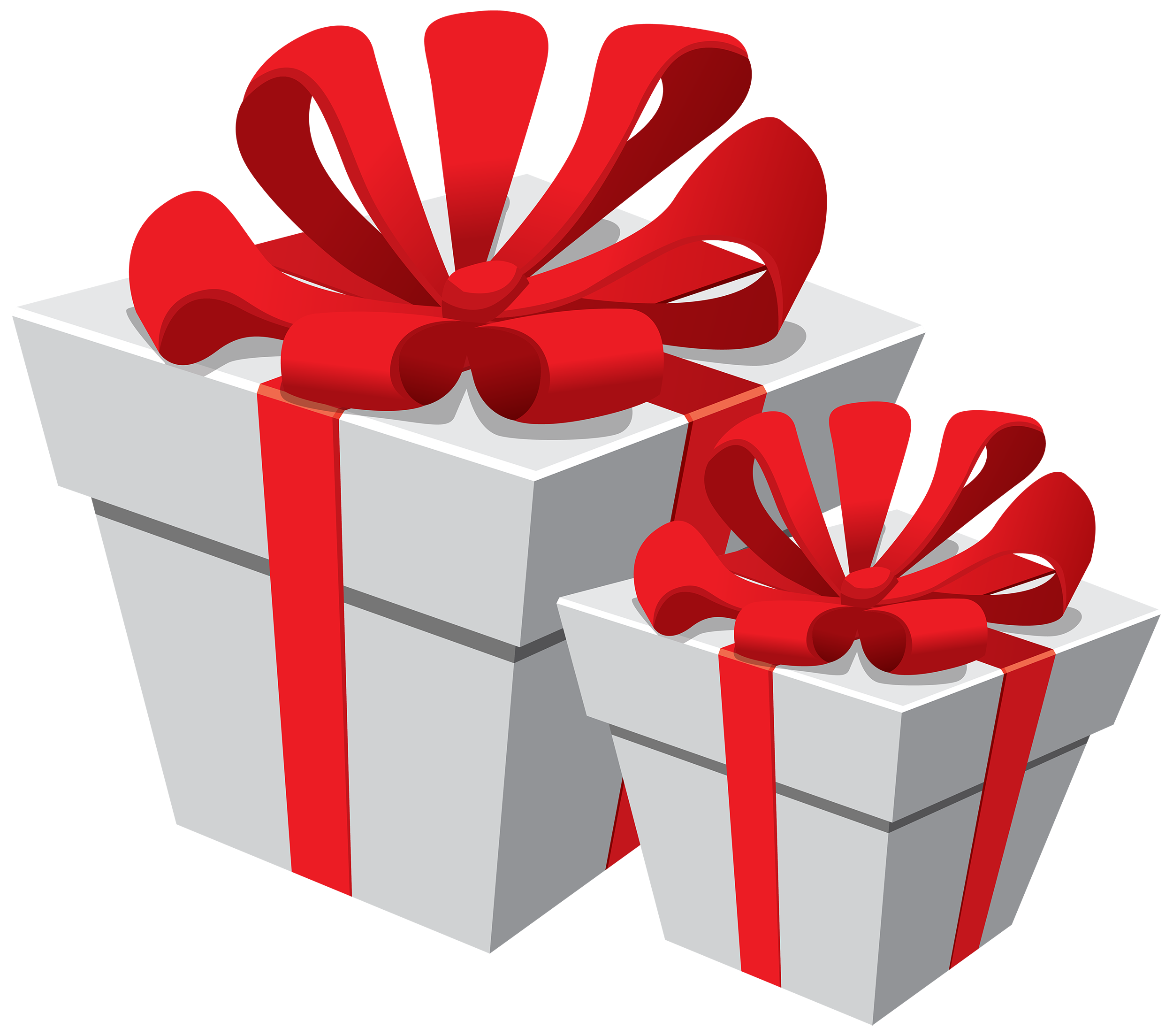 White boxes with red. Gift clipart clip art