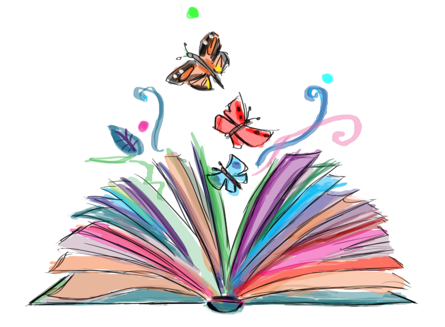 Clipart book butterfly. Effect austin child affects