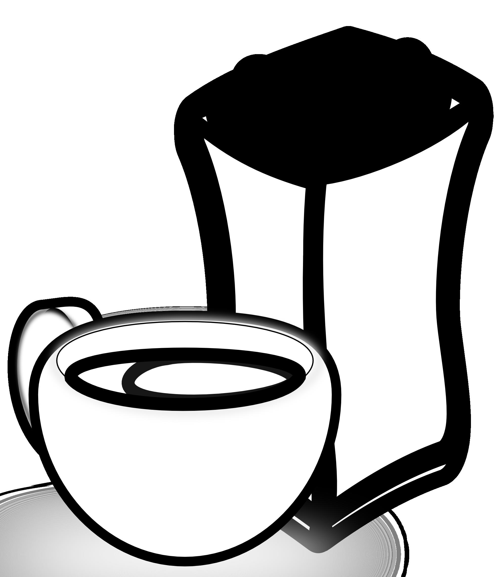 Clipart coffee black and white. Panda free images coffeeclipartblackandwhite