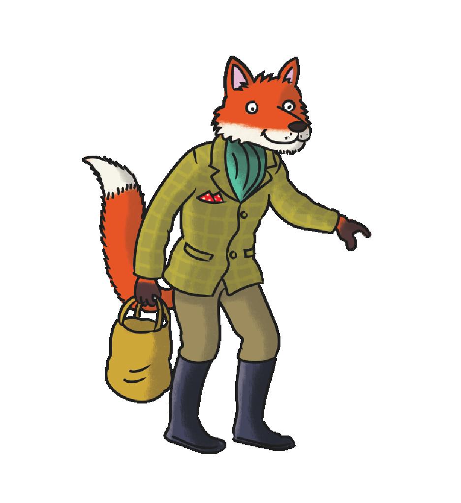 Big brenda childrens book. Clipart reading fox