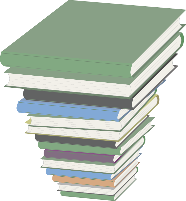 Clipart books clear background. Pile of medium image