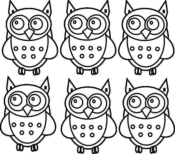 Owls clip art at. Draw clipart coloring book