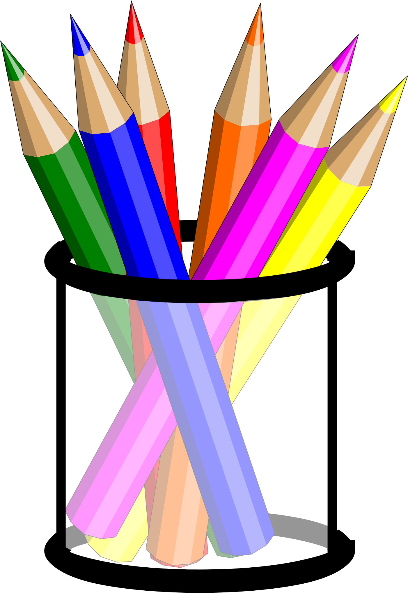 Piano clipart colourful. Pencil cup by hsayin