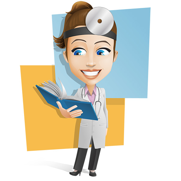 Doctor clipart book. Free picture of a
