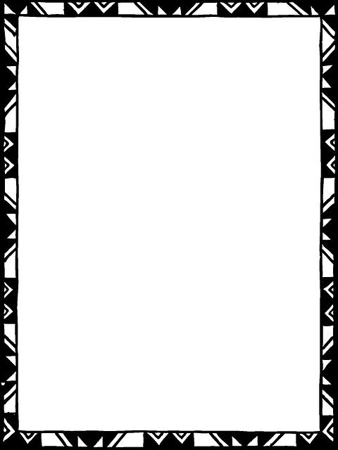 Simple frames design black. Playdough clipart border