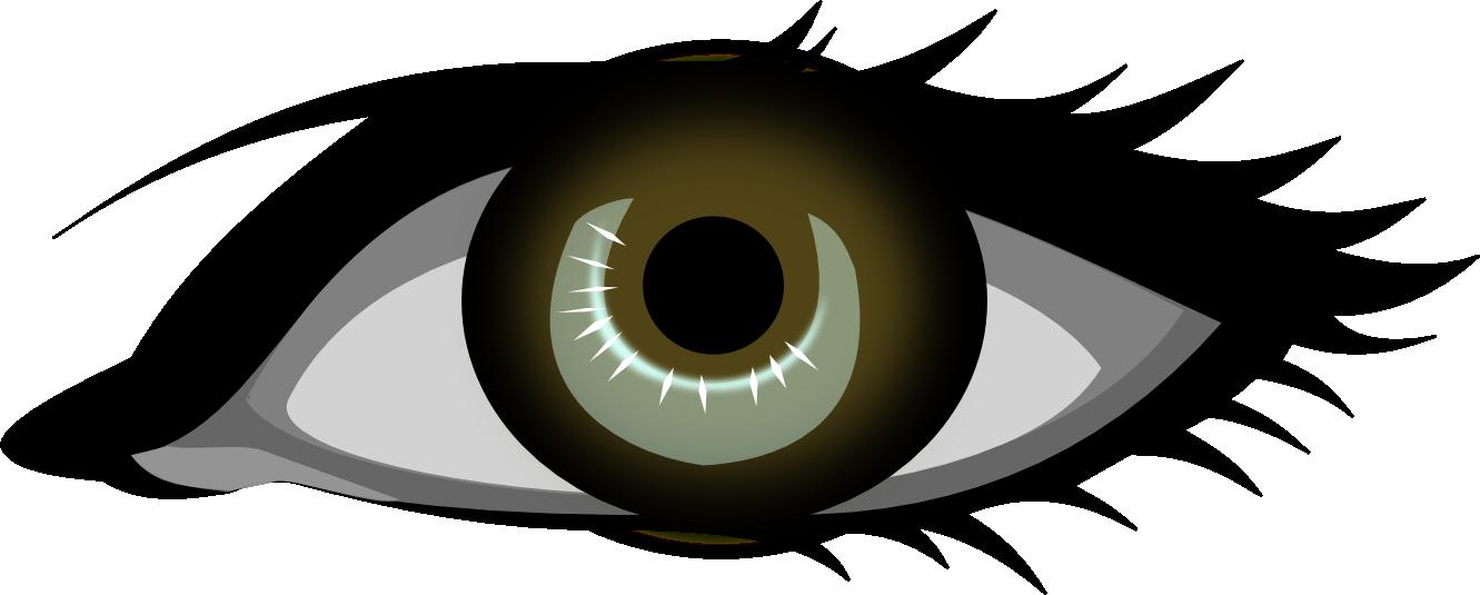 Black and white eyeball. Eyes clipart book