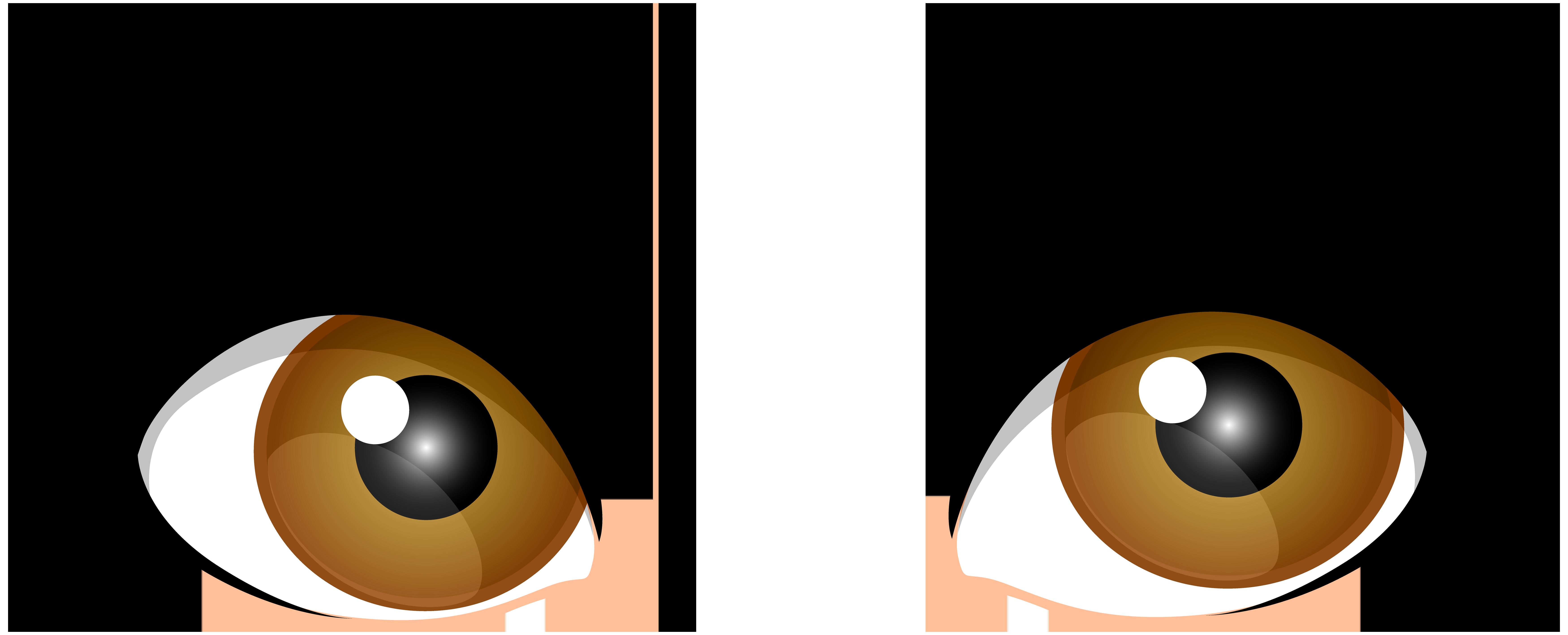 Brown female eyes png. Girl clipart eye