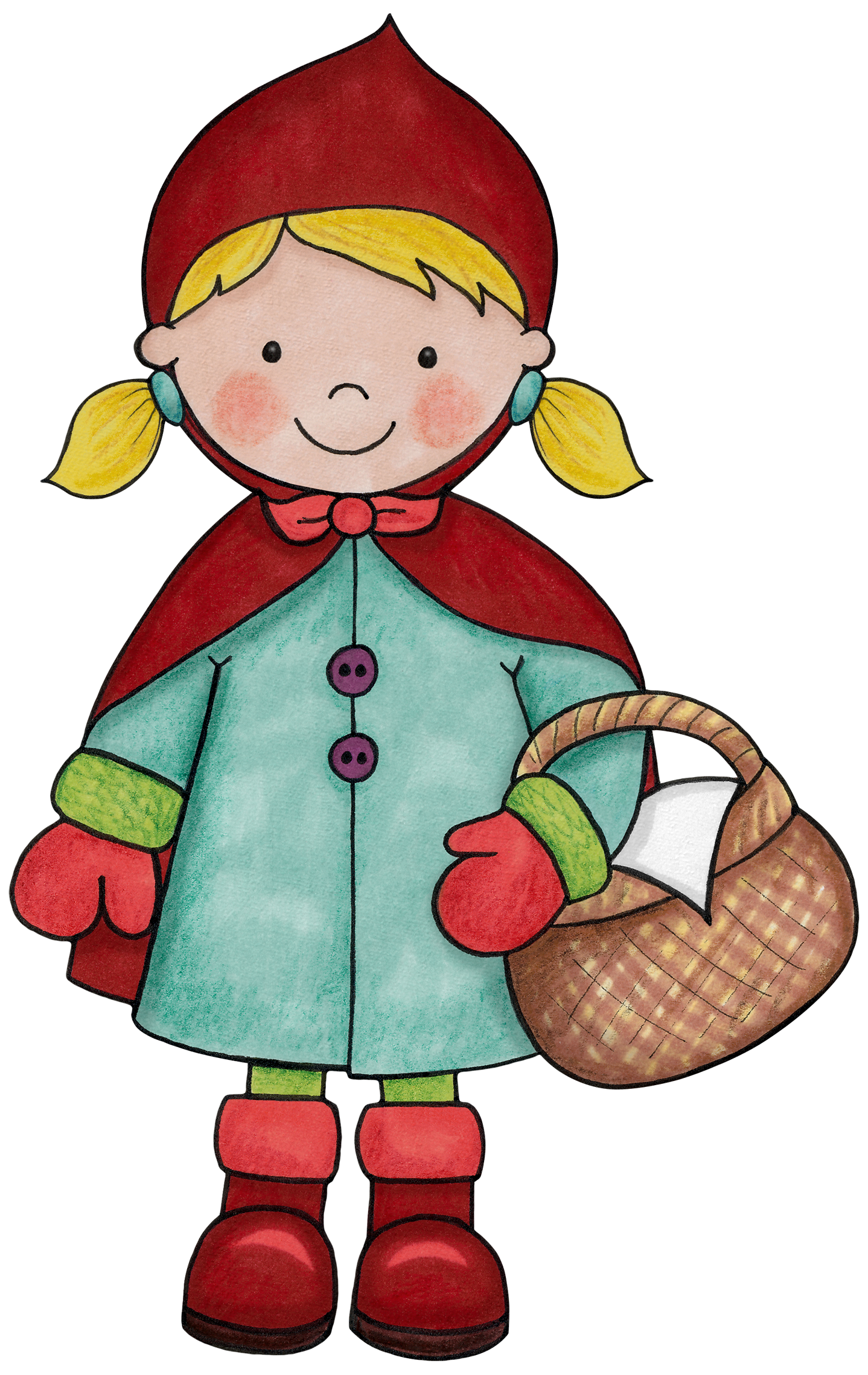 Fairytale clipart hill. Little red riding hood