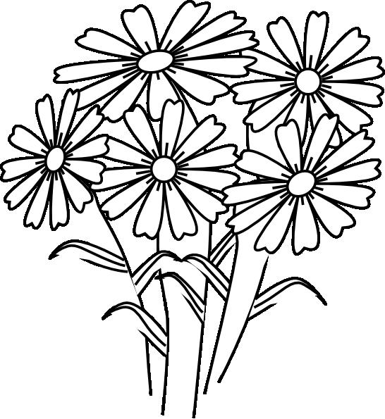 Clipart book flower. Coloring flowers clip art