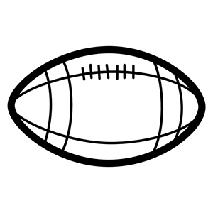 Coloring cliparts of . Football clipart book