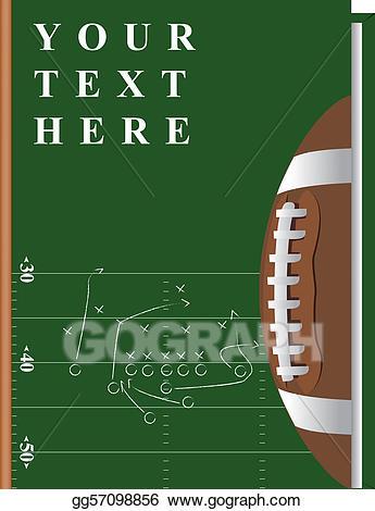 Eps vector stock illustration. Clipart football book