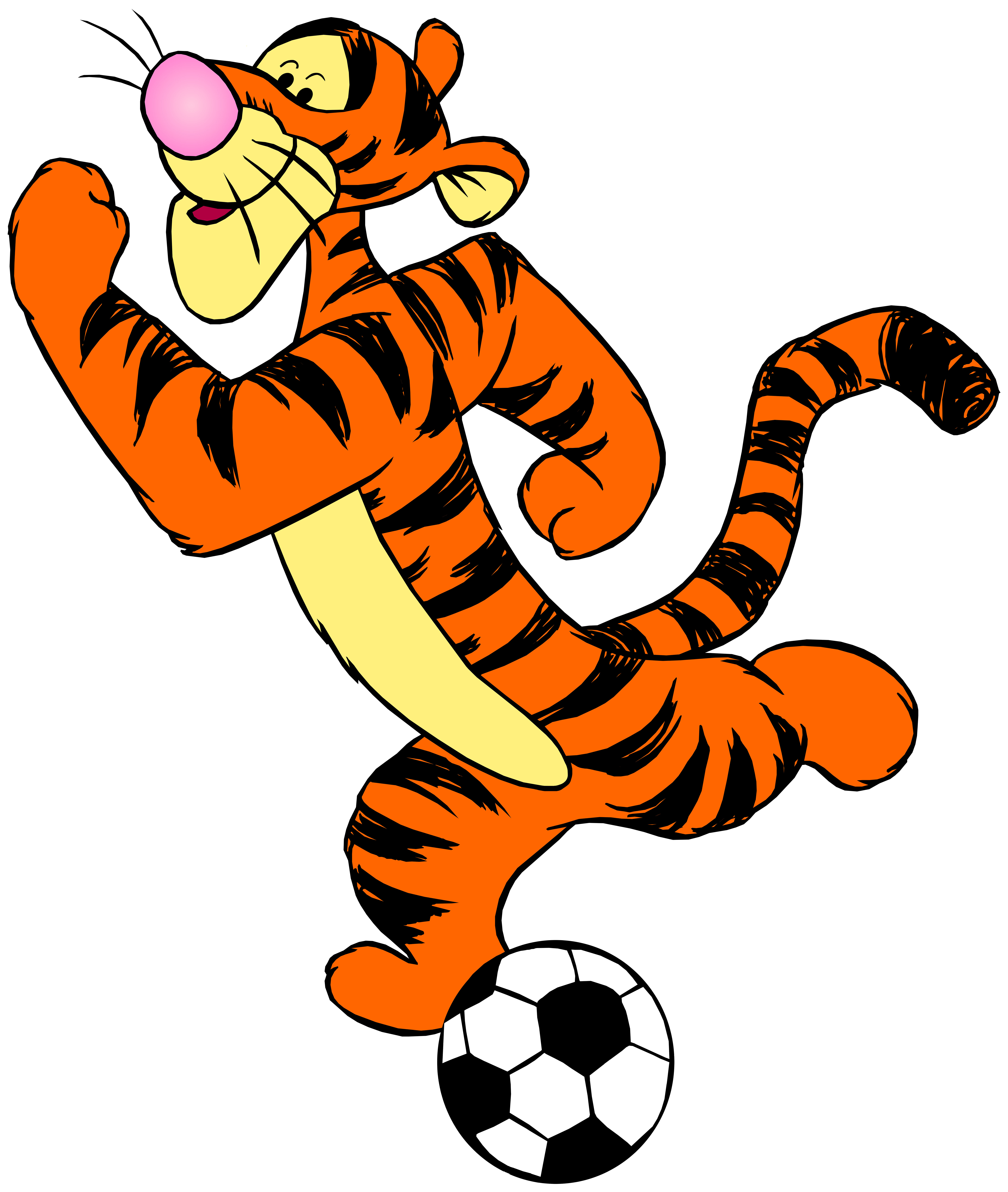 Tigger with png clip. Clipart football book