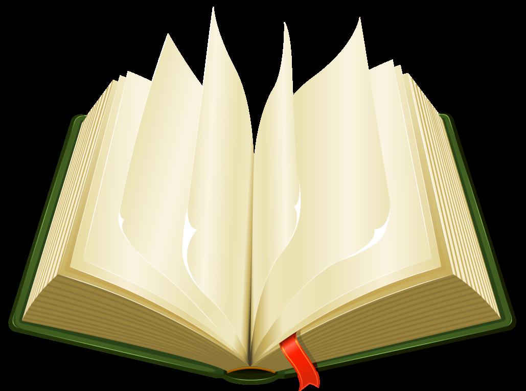 Clipart png book. Open green