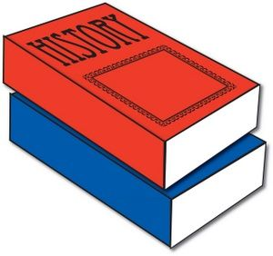 Textbook clipart social study book. History best pop up