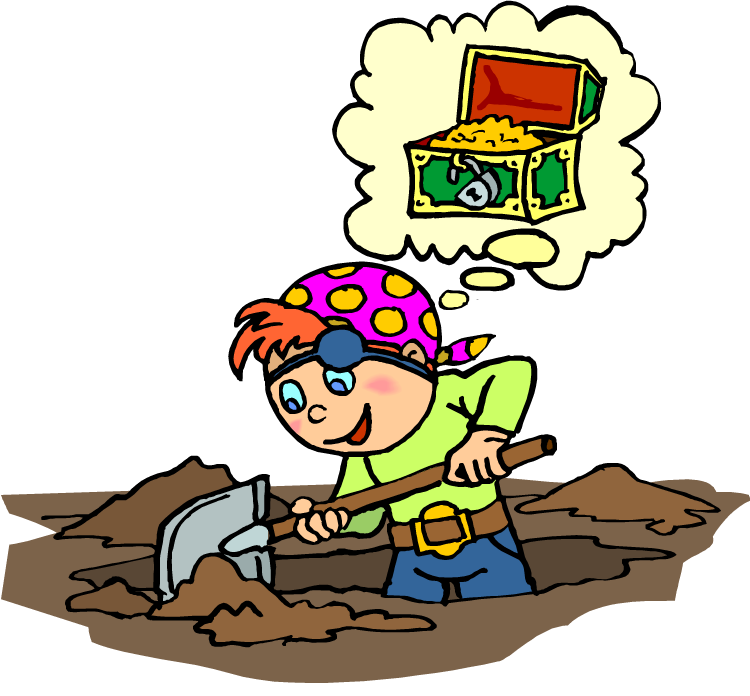 Treasure clipart scavenger. Job the heavenly hunter