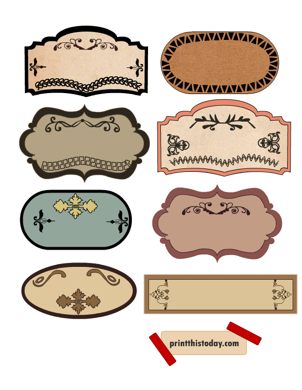 Beautiful vintage labels for. Jelly clipart jar lid