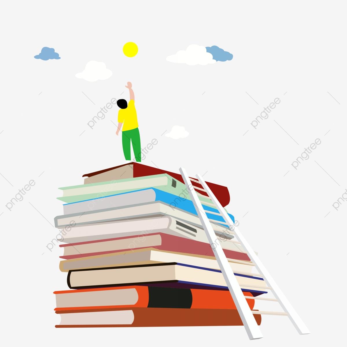 ladder clipart book