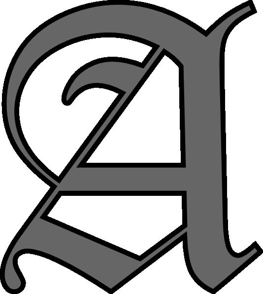 A clip art at. Letter clipart alphabet