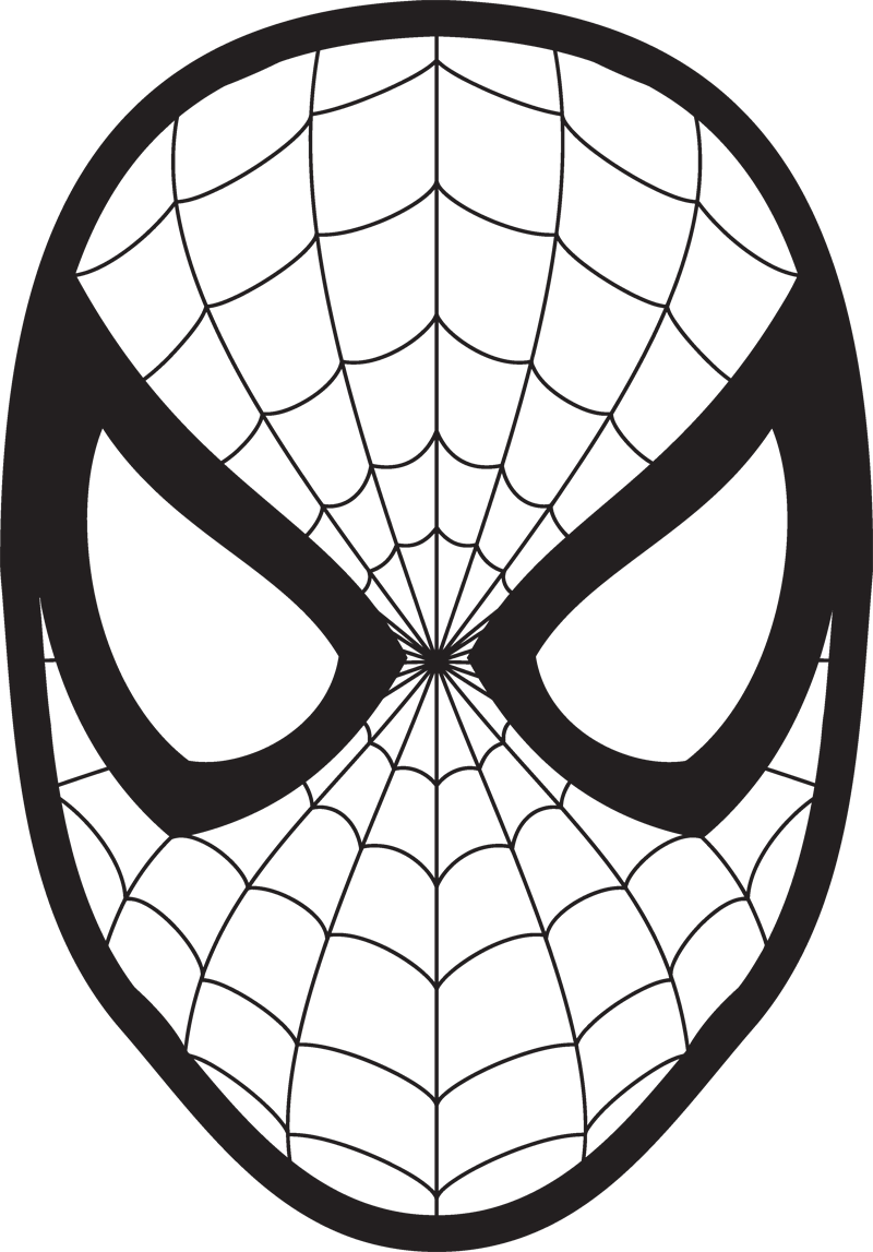 Lollipop clipart coloring book. Spiderman face logo mask