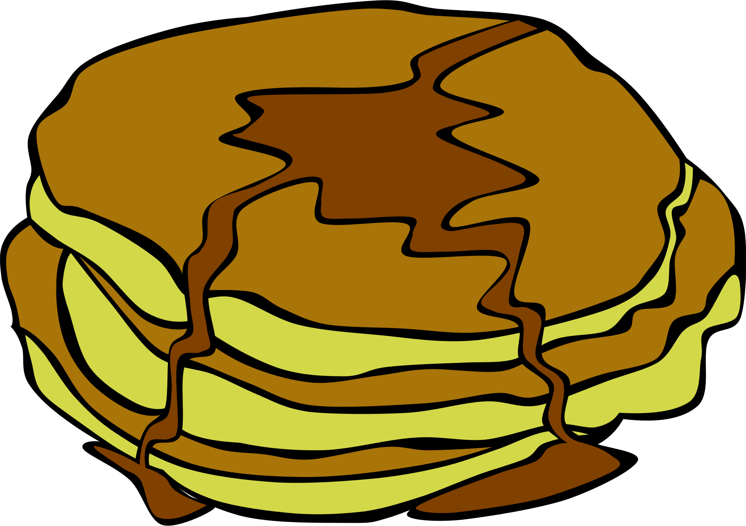Fast food breakfast pancakes. Pan clipart griddle