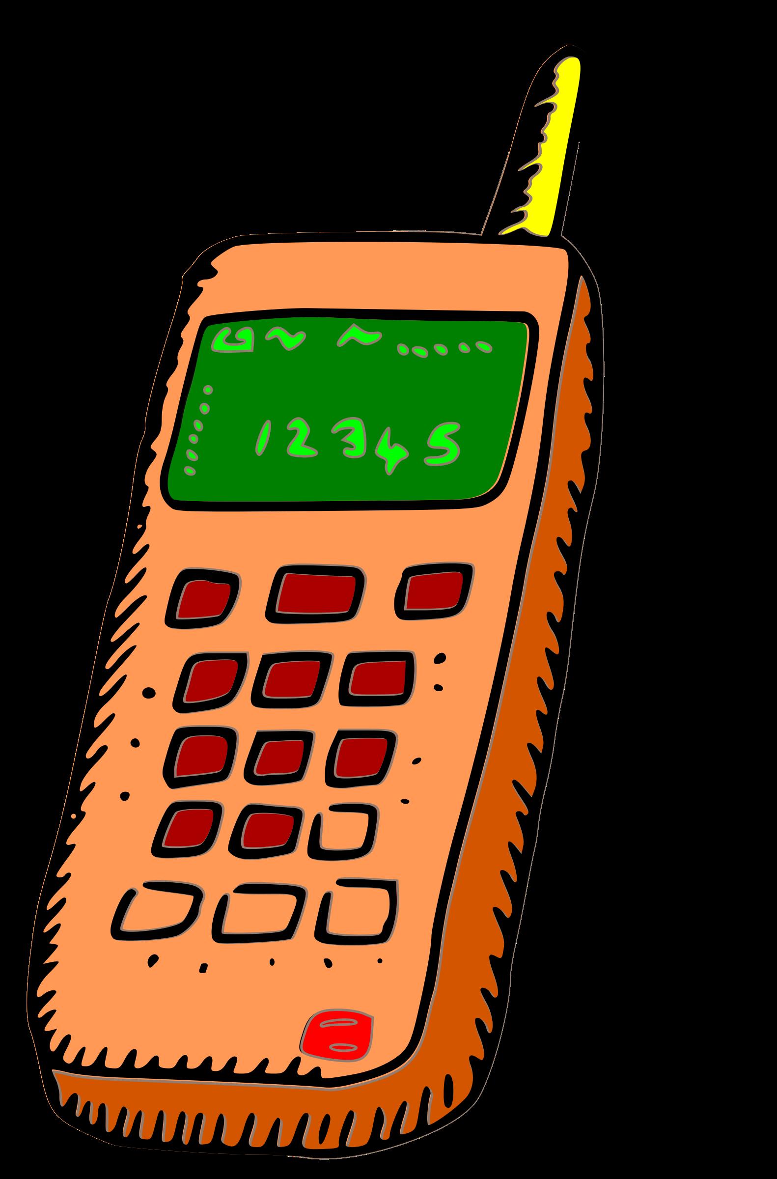 Communication clipart radio communication. Analogue mobile phone icons