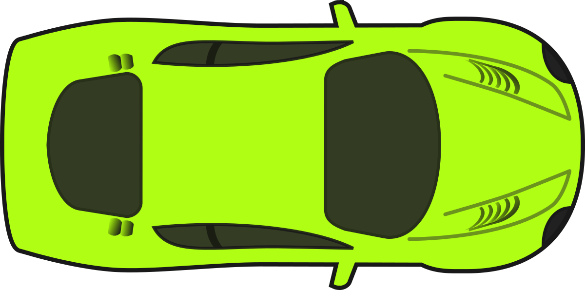 Auto mobile top view. Flames clipart racing wheels