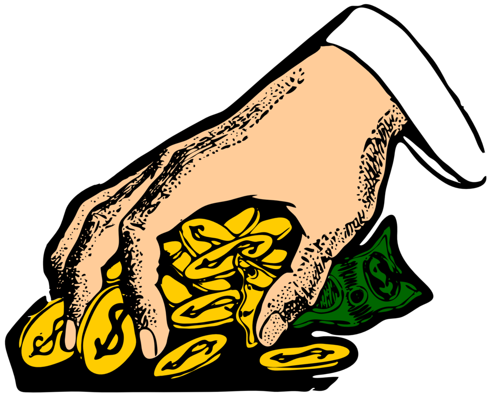 Hand clipart money. Public domain clip art