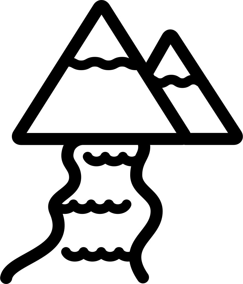 Clipart mountain line drawing. River and mountains svg