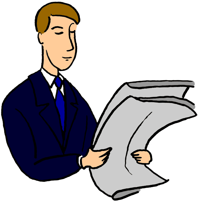 collection of reading. News clipart clip art