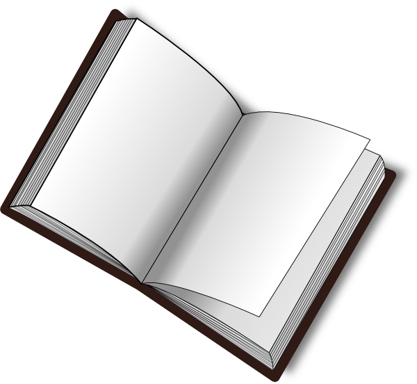 Dictionary clipart thin book. Open clip art png