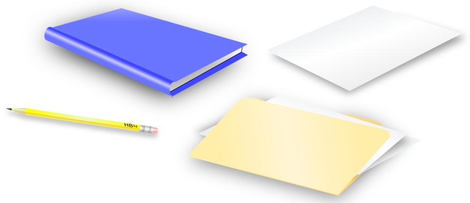 Folder clipart office material. Public domain clip art