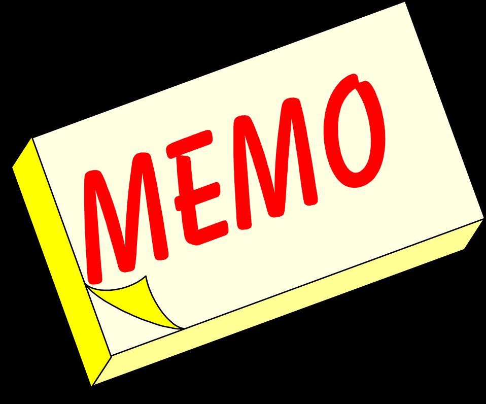 Clipart pencil pad. Office memo