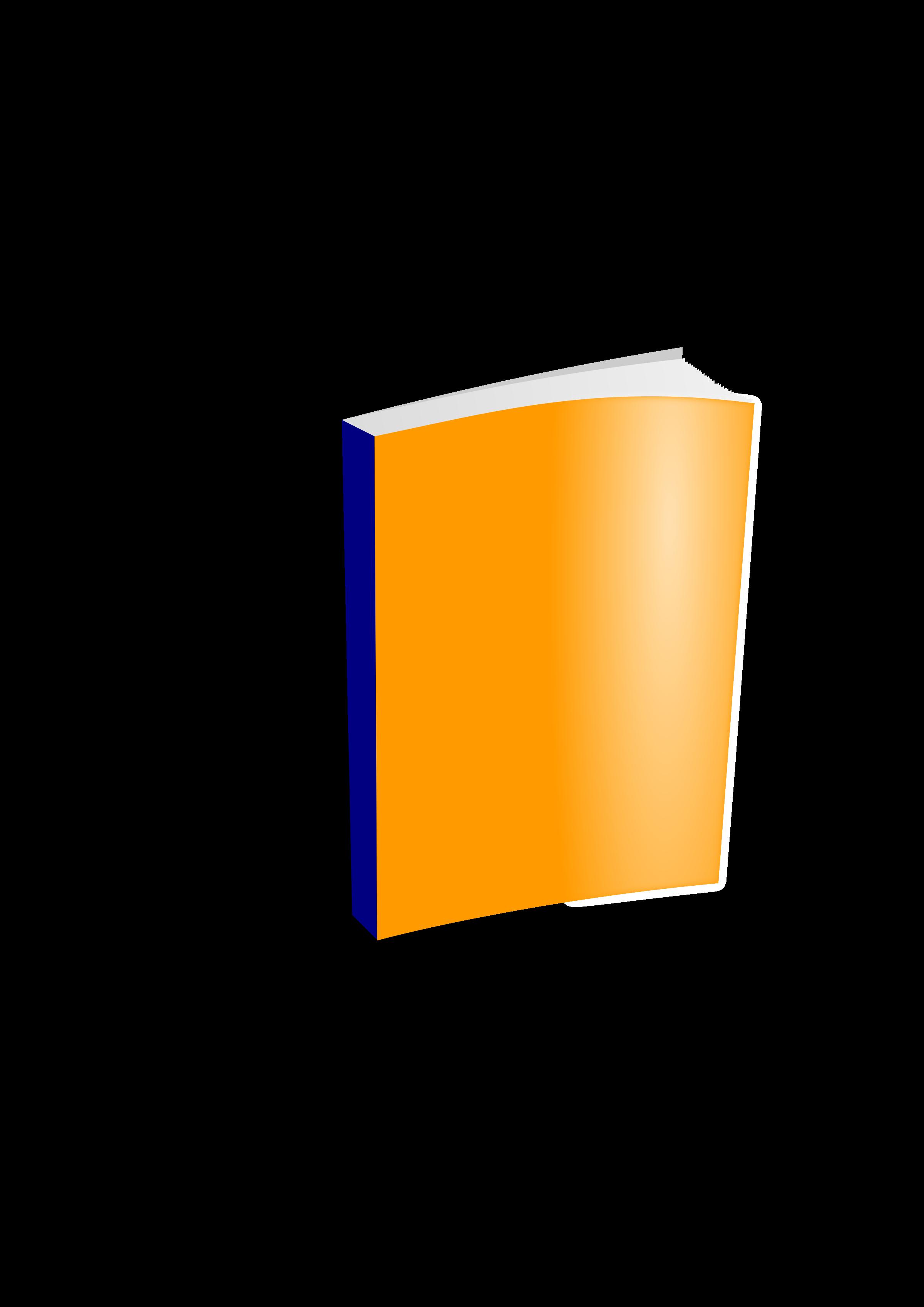Big image png. Clipart book orange