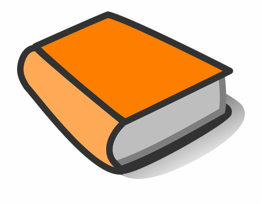 Clipart book orange. Thick blank art cover