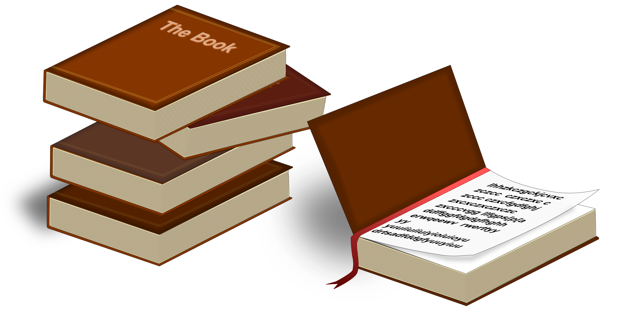 Books icons png free. Clipart book orange