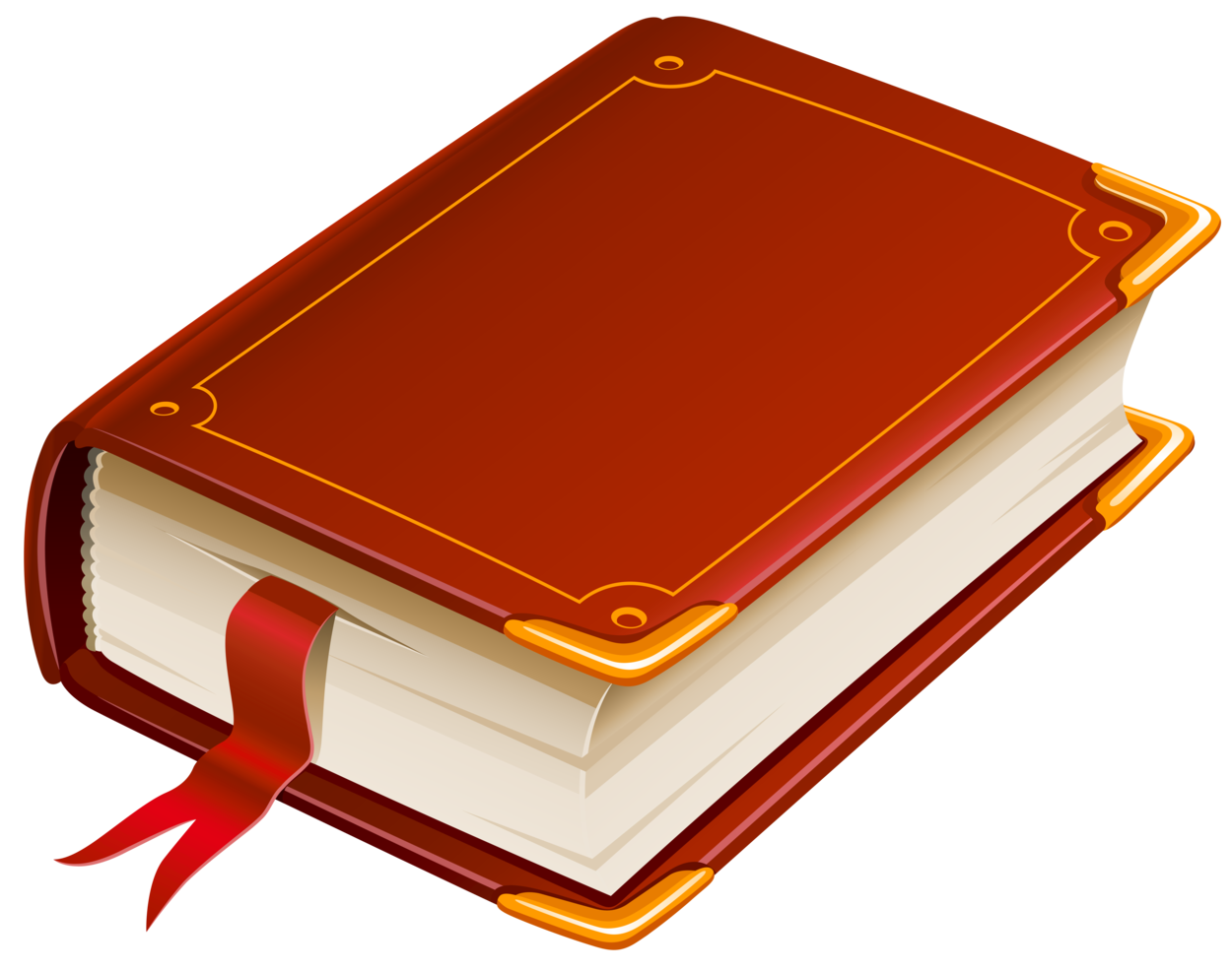Clipart book orange. Red png