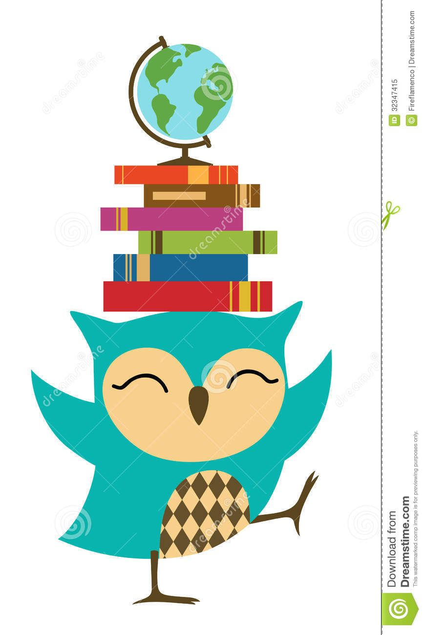 Owl with books clip. Owls clipart education