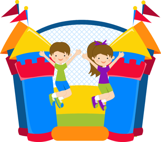 Book your bouncy party. Clipart castle kid