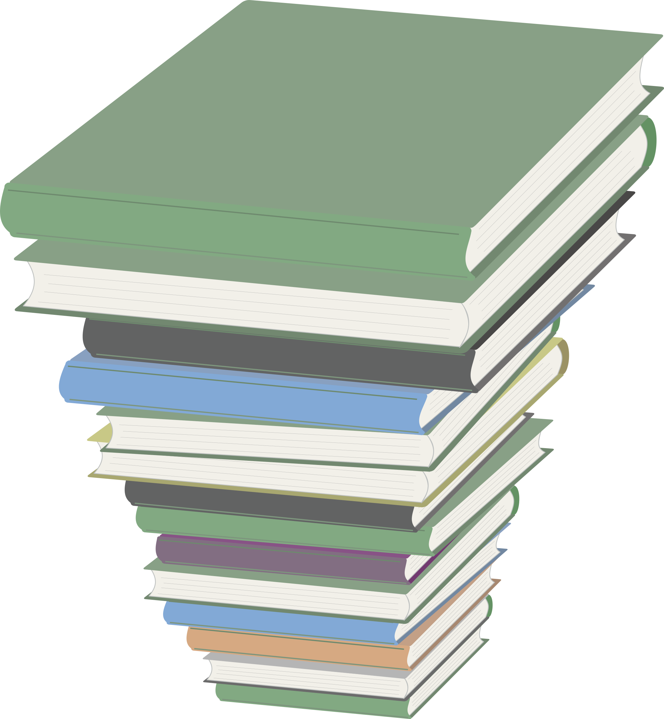 Textbook clipart transparent background. Pile of books big