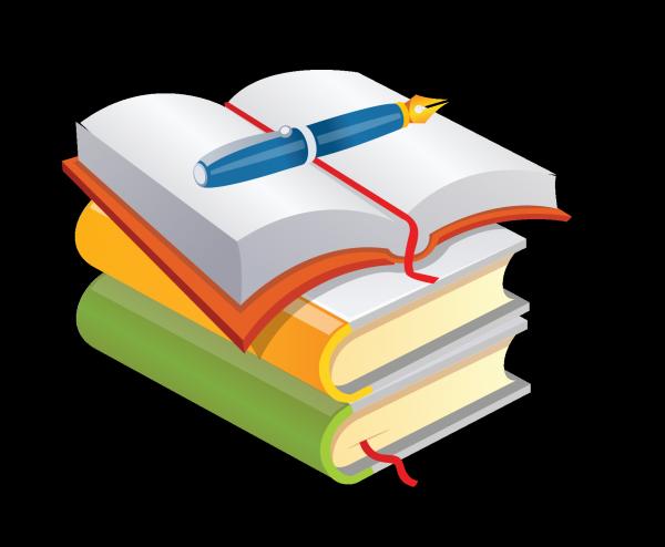 Clipart books pen. Book clip art png