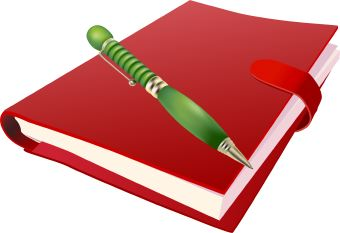Clipart books pen. Book and kid cliparting