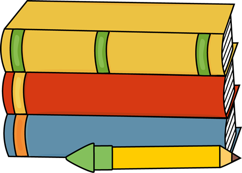 Free pencils and books. Textbook clipart pencil