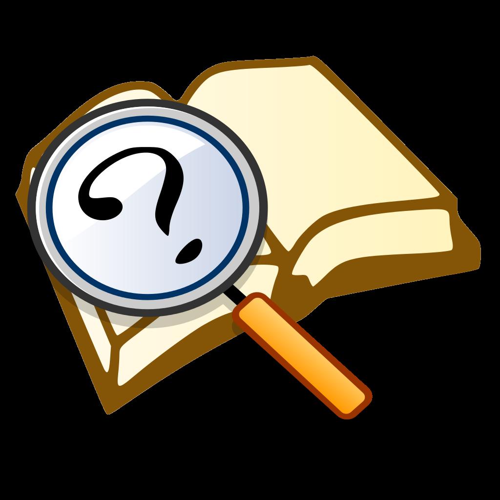 clipart book question